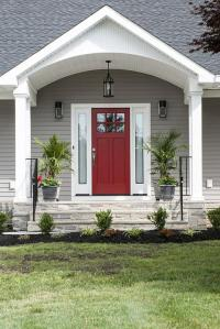 Free photo Door Home Design Exterior Porch House Red Door