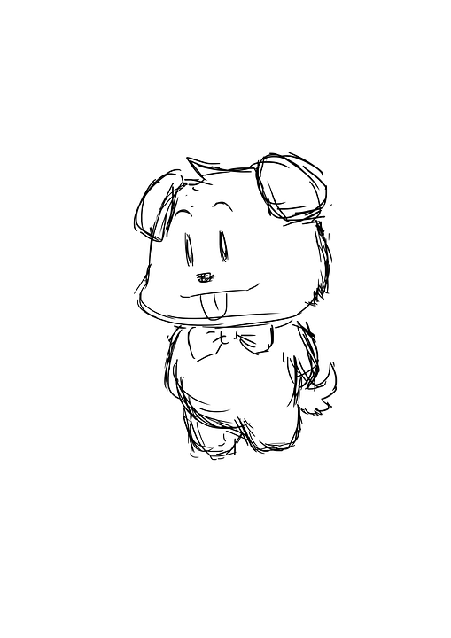 Free photo Drawing Puppy Sketch Animal Cute Doggie  Max Pixel