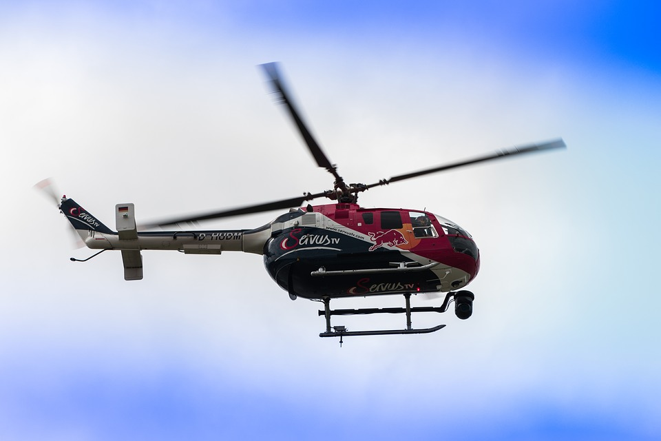 free photo helicopter aerial