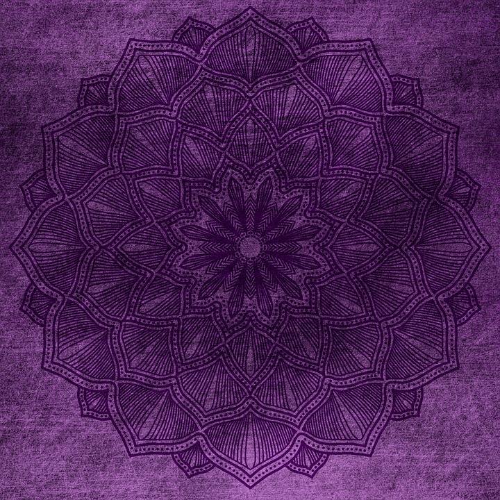 Rose Wallpaper Hd Free Photo Lilac Background Grunge Purple Mandala Vintage