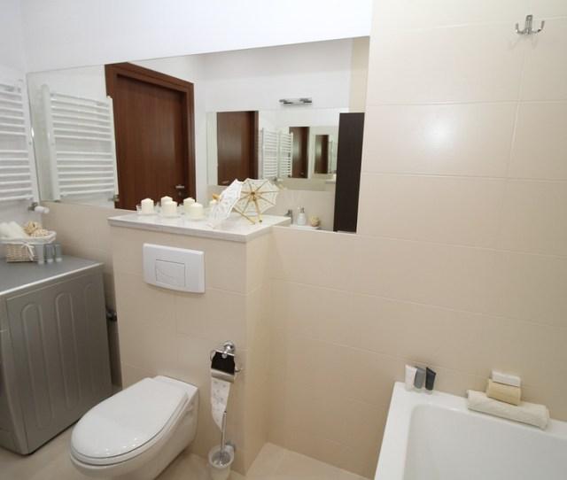 Bathroom Bath Wc Toilet Sink Mirror Apartment