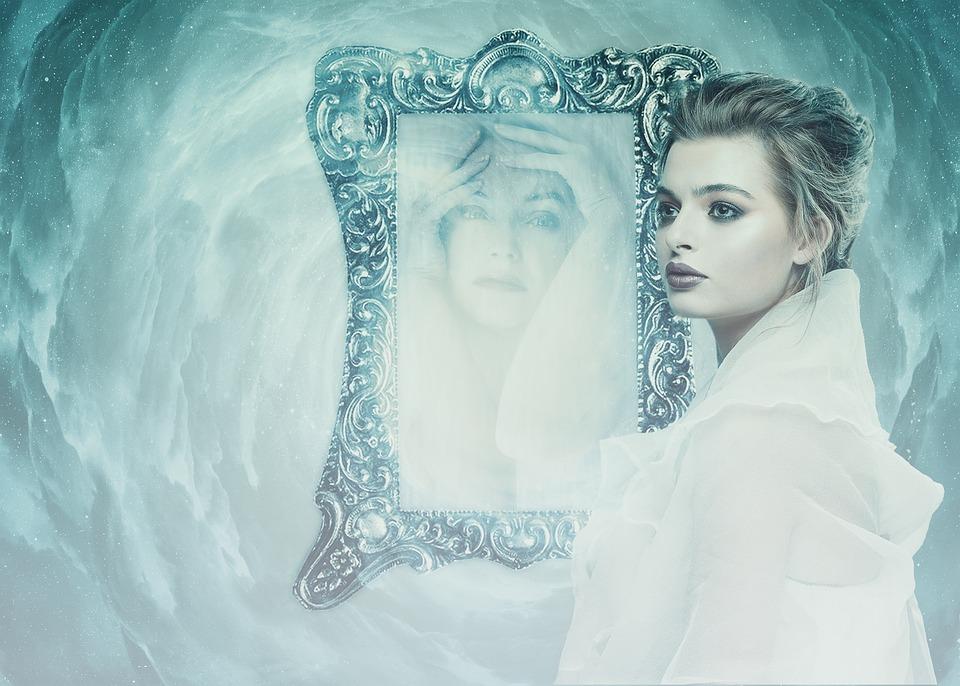 Fashion Wallpaper Girl Free Photo Mirror Woman Personality Psyche Depression