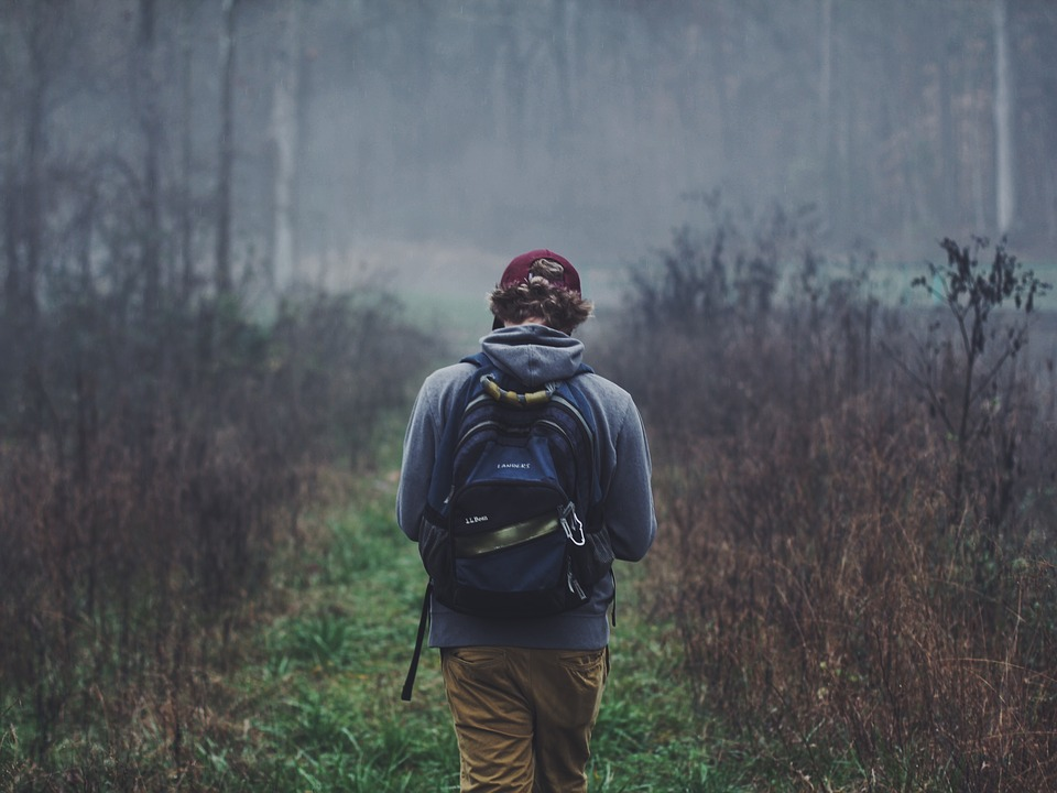 free photo outdoors backpack