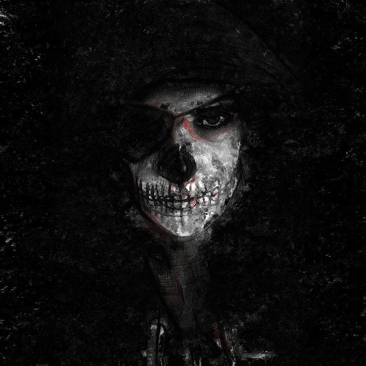 Scandinavian Wallpaper Hd Free Photo Paint Death Painting Mask Face Scary Skull Dark