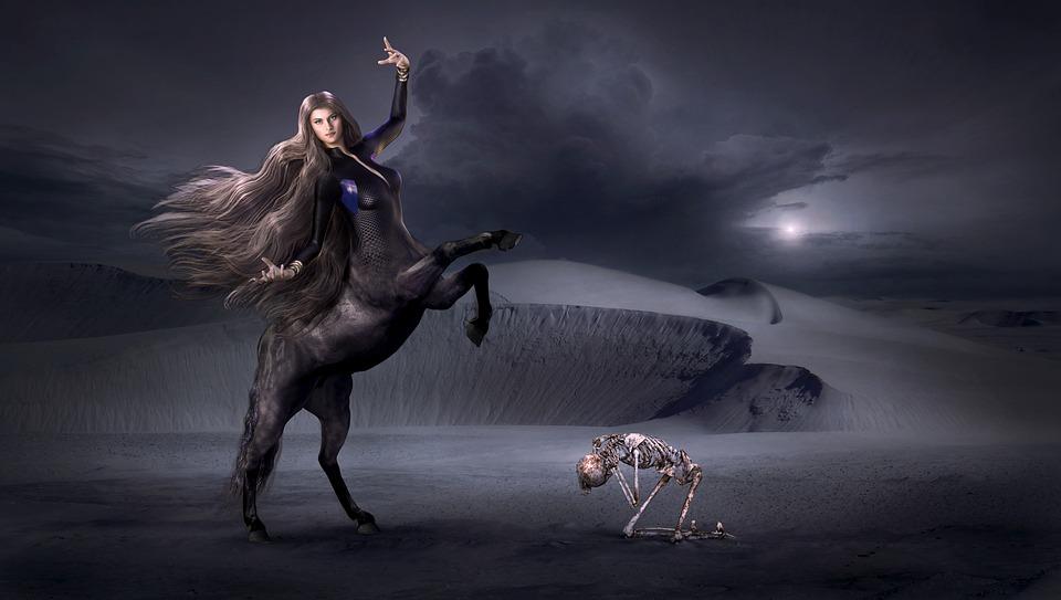 Dragon Wallpaper Hd Free Photo Skeleton Fantasy Mystical Gloomy Centaur Dark