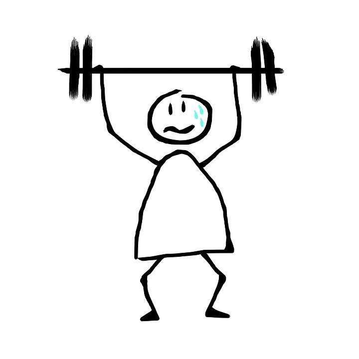 Free photo Sweat Fatigue Toil Weightlifting Effort Gym
