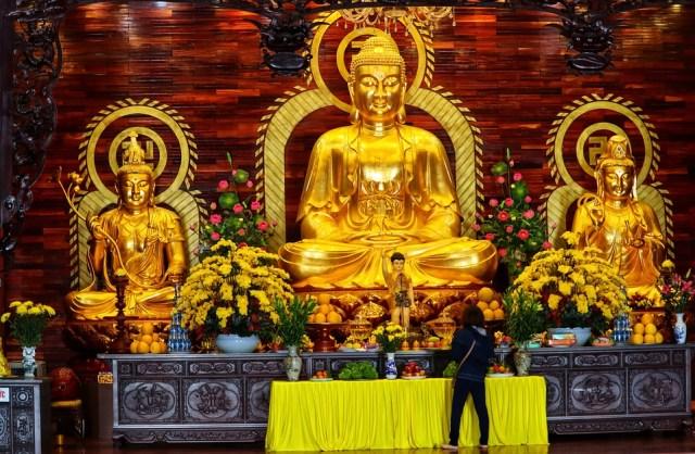 Gold Temple Figures Altar