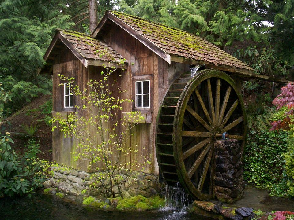 Free photo Watermill Mill Waterwheel Historic Old Antique