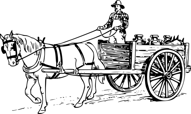 Free photo Horse Drawn Carriage Livestock Drag Work