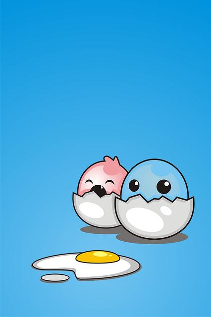 Free photo Cute Blue Funny Wallpaper Egg Mascot Cartoon