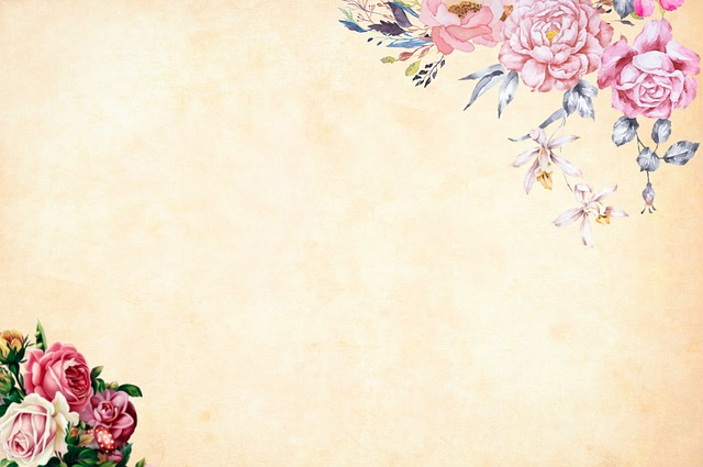 Free photo Flower Watercolor Border Background Floral