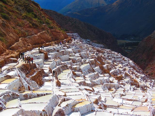 Free photo Peru Salinas Of Maras White Salt Water  Max Pixel