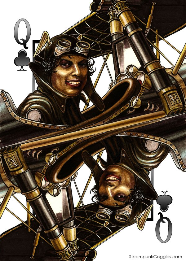 Steampunkgoggles Hearts Ace 1200 - Max Playing Cards