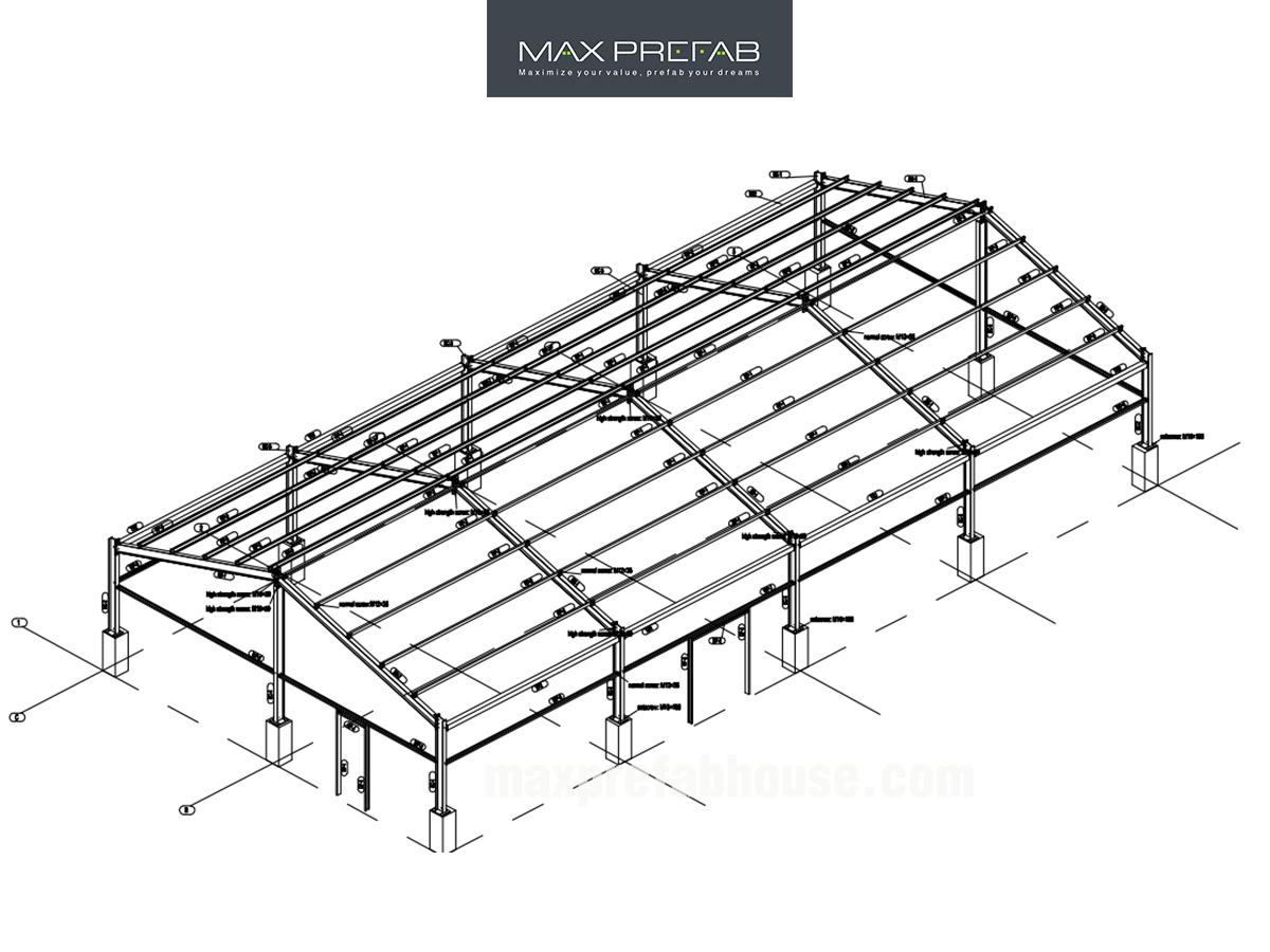 Prefab Steel Structure W205,Prefab Steel Structure Warehouse