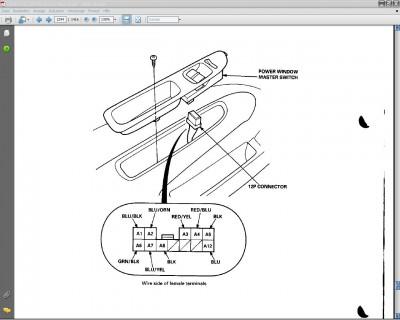 Schaltplan für elektrische Fensterheber EJ/EK Hatchback96