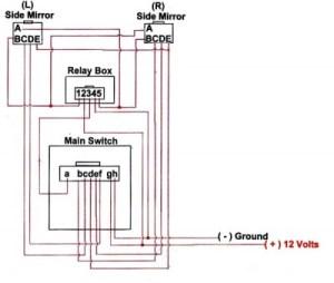 Elektrisch einklappbare Spiegel Schaltplan und Anleitungen
