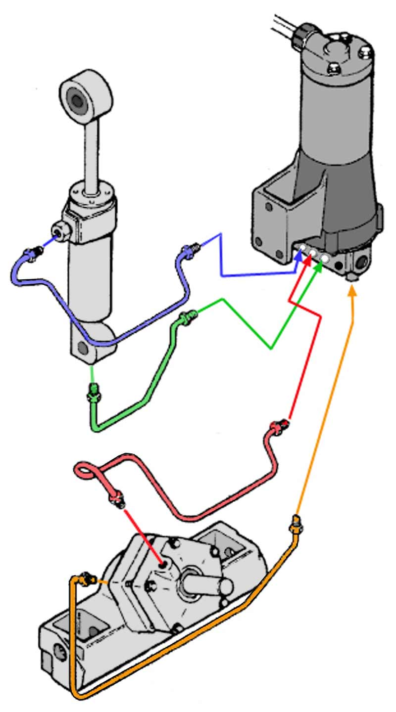 hight resolution of chrysler force outboard trim motors solenoids relays mercury trim pump wiring diagram