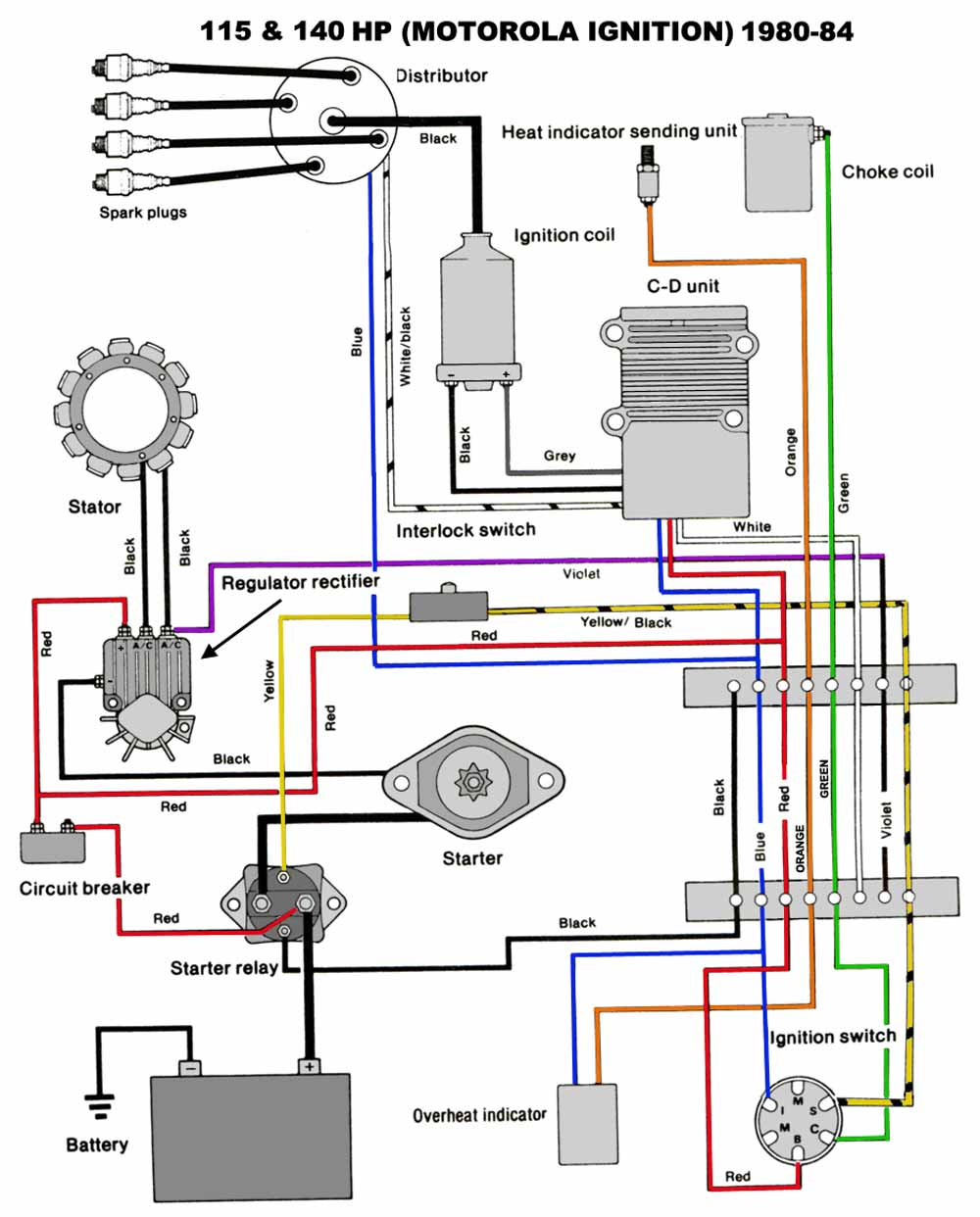 Mercruiser 140 Ignition Wiring Diagram For A,ignition Free
