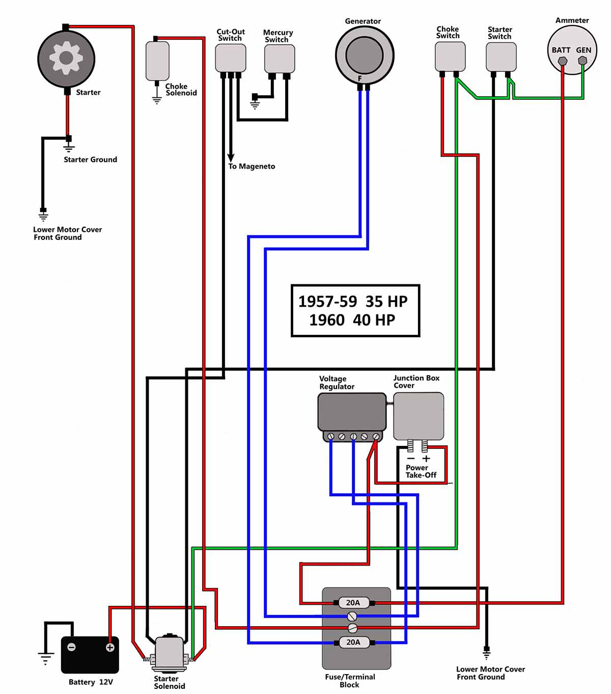 wiring diagram yamaha outboard ignition switch mains powered smoke alarm uk 10 40 hp