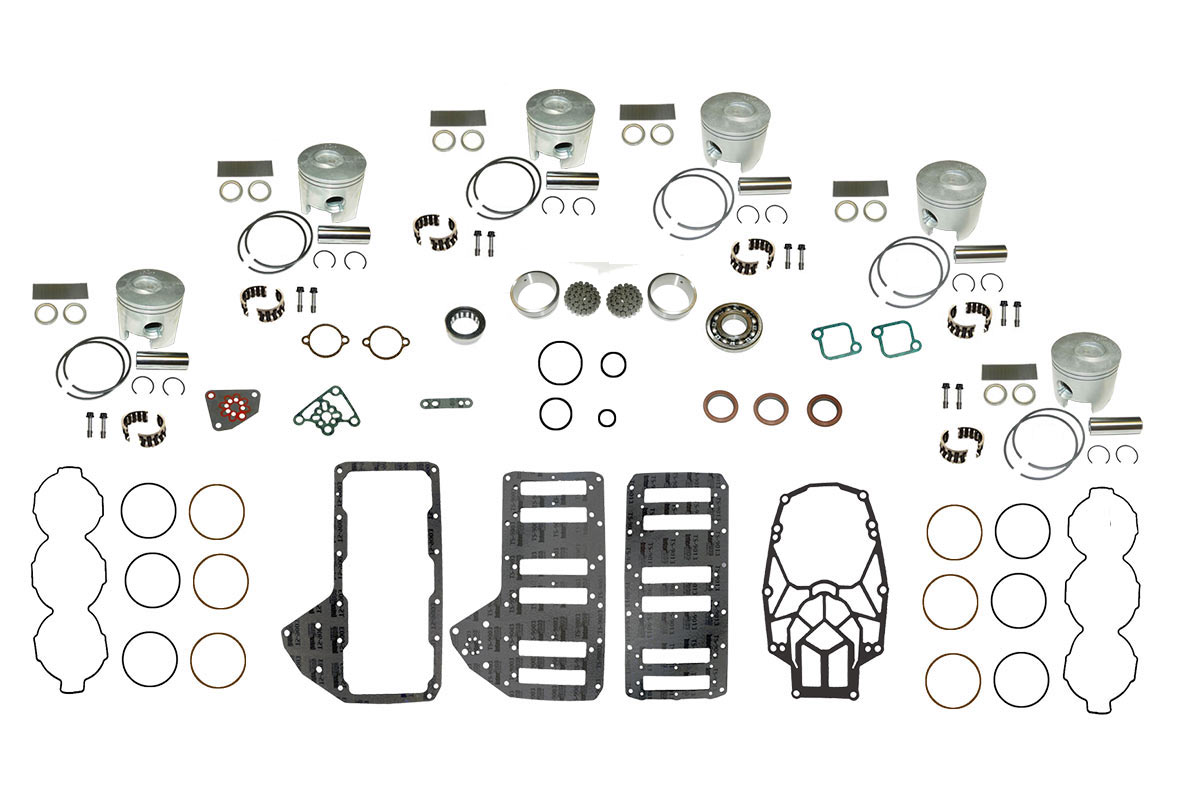 Complete Powerhead Rebuild Kit for Mercury Optimax 3.0L