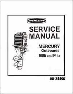MERCURY OUTBOARD SERVICE MANUALS 1978 & OLDER