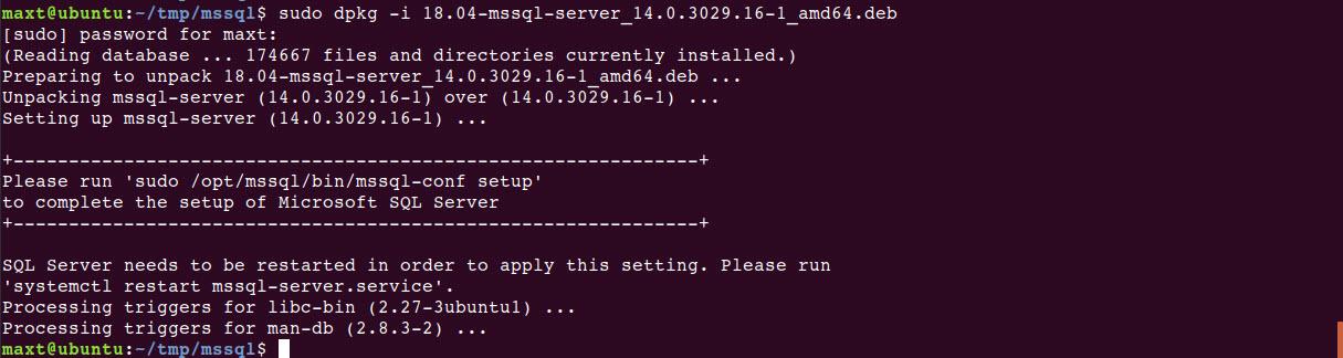 Installing MS SQL Server in Ubuntu 18 04 – Max Trinidad