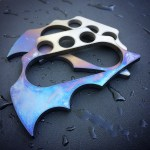 Two ti-fangs with blue anodizing