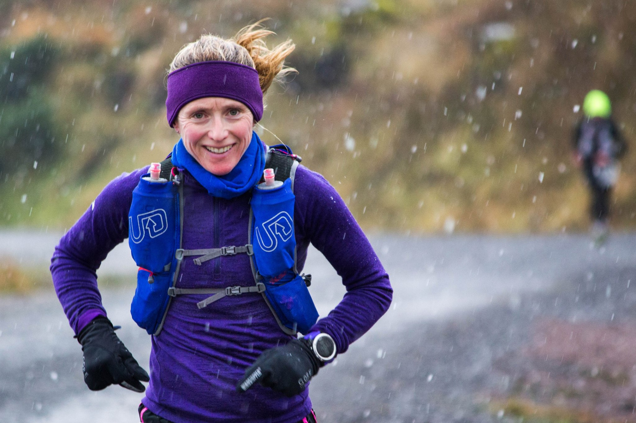 Michelle winning the Beacons Ultra