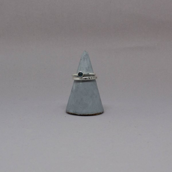 Grey Concrete Ring Holder