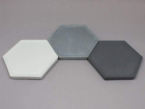 Hexagon Concrete Trinket Dishes