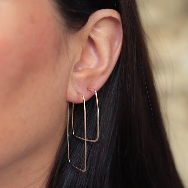 Maxi and Midi Rectangular Hoop Earrings