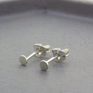Tiny Dot Silver Stud Earrings