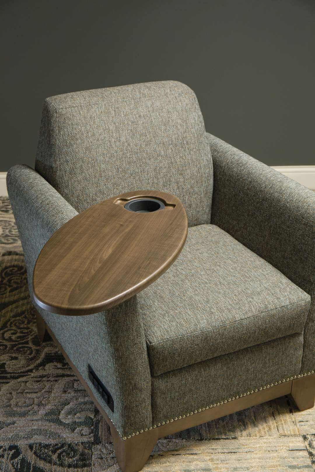 Ashville Lounge Chair with Tablet Arm  Maxwell Thomas