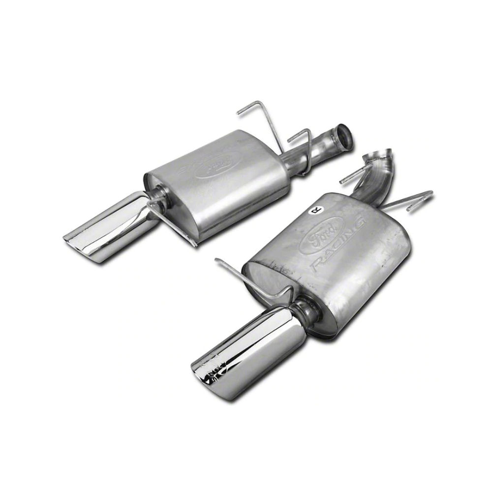 exhaust mufflers fpp stainless steel 11 14 ford mustang gt