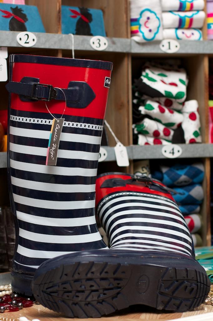 Charlie Paige Charlie Paige Nautical Rain Boots