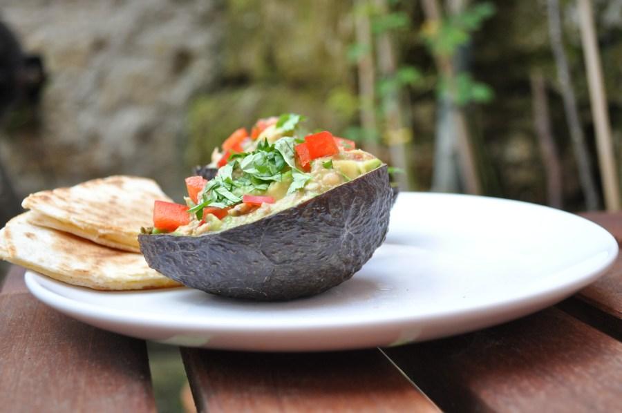 """Eco-cado"" (avocado in an eco-bowl)"