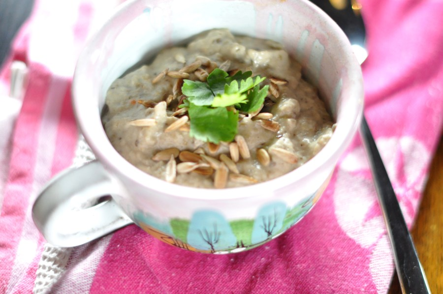 Aubergine and coconut soup
