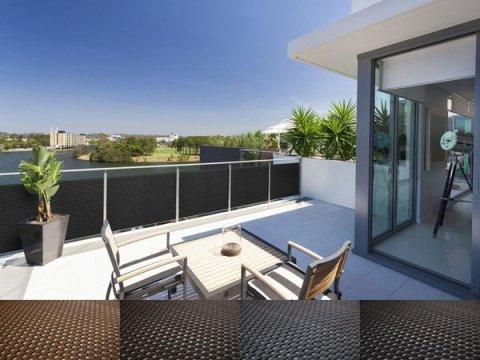 balkon sichtschutz rattan rattan balkon und terrassen-sichtschutz  cm  cm