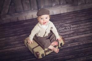 vintage baby portrait