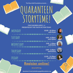 QuaranTeen StoryTime registration