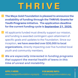 Link to Thrive Grant application