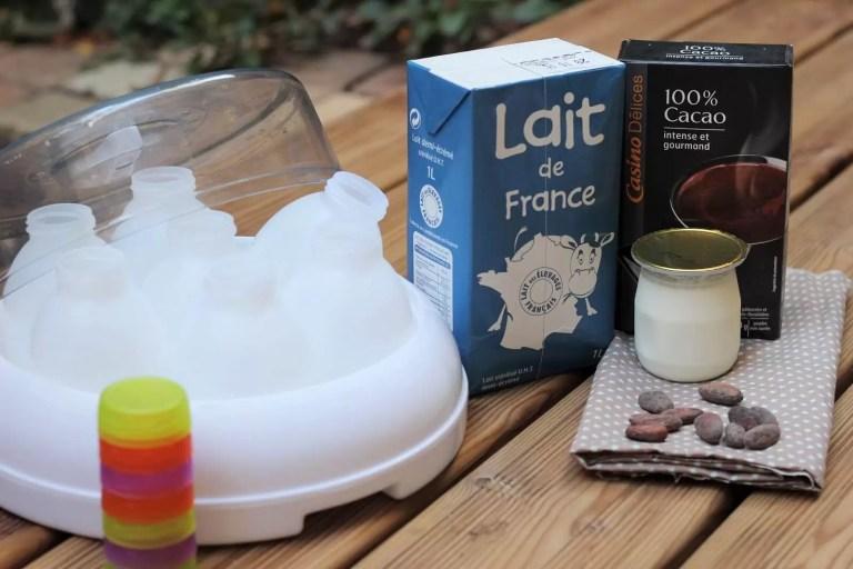yaourt à boire au cacao
