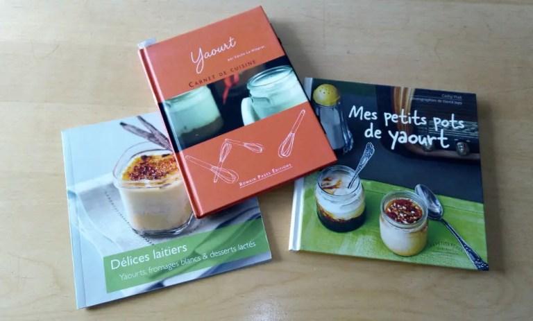 livres de recettes de yaourts