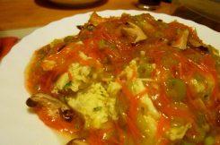 芙蓉蛋 Furung Dan - eine Art Rührei mit Gemüsesoße