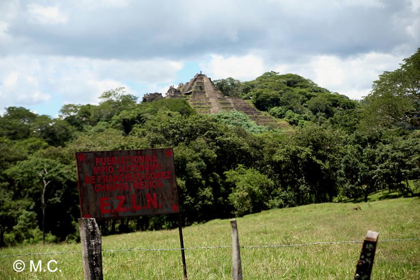 Tonina, un site situé sur les terres de l'EZLN © M.C.