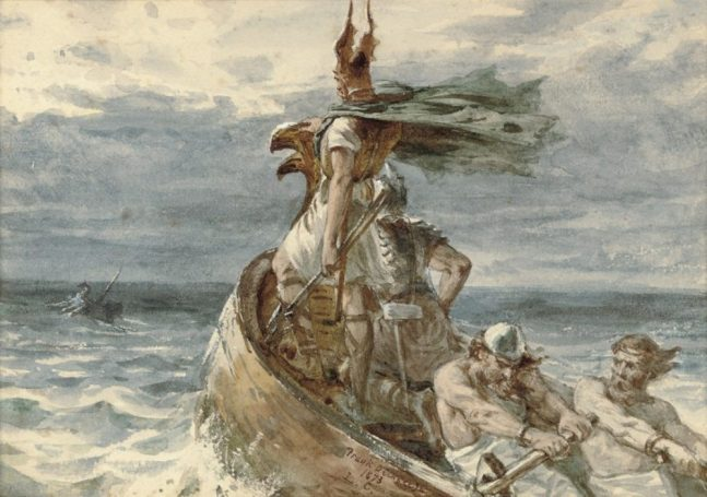 Frank_Dicksee_: Vikings Heading for Land (Wikimedia Commons)