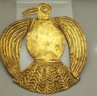 Feuille d'or en forme de volaille, culture Inca (1400-1533 ap J.C.)