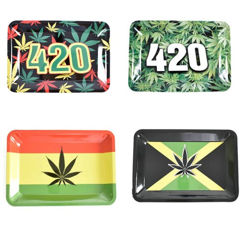 420 Weed Metal Rolling Tray