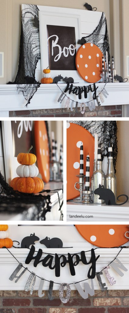 halloween-decor-mantle