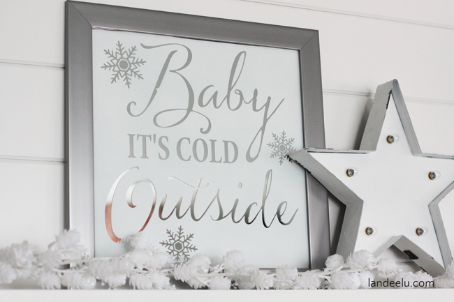 Holiday Home Decor - DIY Mirror Art